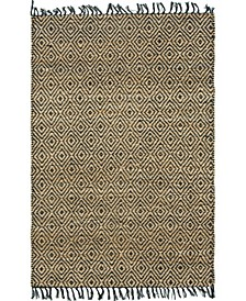 Braided Tones Brt3 Natural/Black 4' x 6' Area Rug
