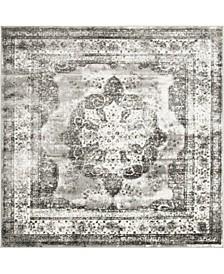 Basha Bas2 Gray 6' x 6' Square Area Rug