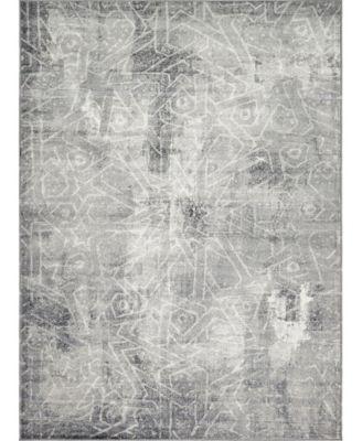 Basha Bas6 Dark Gray 8' x 11' Area Rug