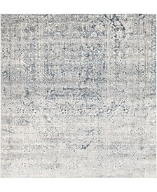 Odette Ode1 Gray 7' x 7' Square Area Rug