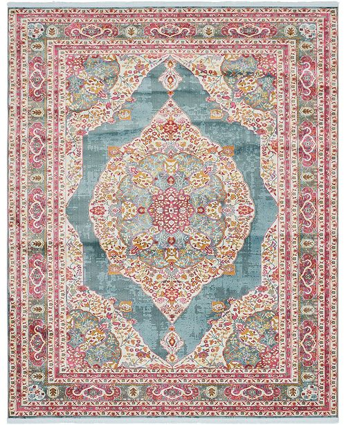 "Bridgeport Home Kenna Ken1 Turquoise 8' 4"" x 10' Area Rug"