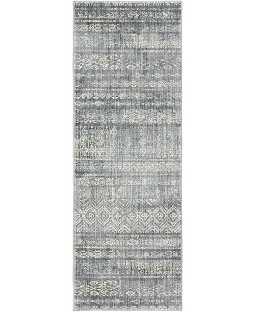 "Bridgeport Home Haven Hav2 Gray 2' 2"" x 6' Runner Area Rug"