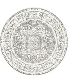 Mishti Mis1 Gray 8' x 8' Round Area Rug