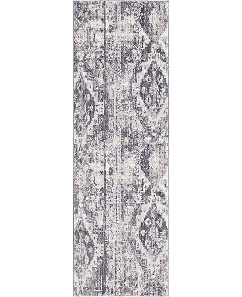 "Bridgeport Home Nira Nir2 Gray 2' 7"" x 8' 2"" Runner Area Rug"