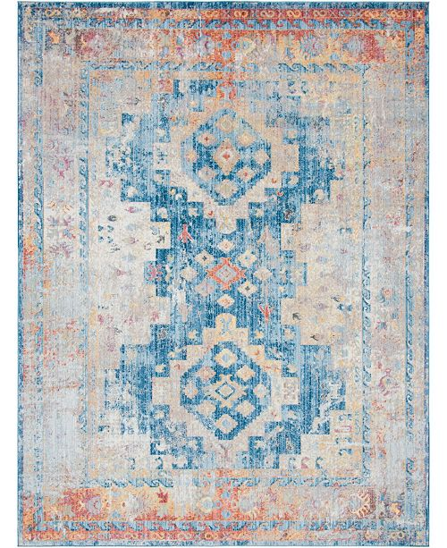 Bridgeport Home Nira Nir5 Blue 9' x 12' Area Rug