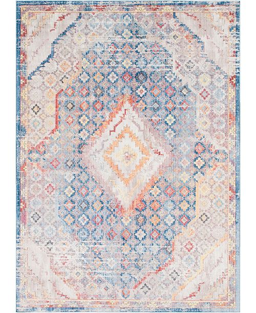 Bridgeport Home Zilla Zil1 Blue 10' x 14' Area Rug