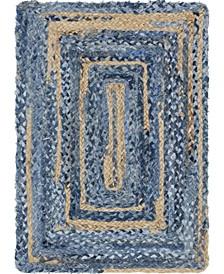 Roari Braided Chindi Rbc1 Blue/Natural 2' x 3' Area Rug