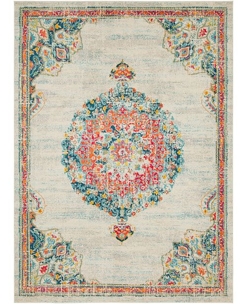 Bridgeport Home Lorem Lor1 Ivory 9' x 12' Area Rug