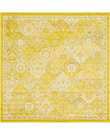 Lorem Lor2 Yellow 8' x 8' Square Area Rug