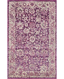"Bridgeport Home Lorem Lor3 Purple 3' 3"" x 5' 3"" Area Rug"