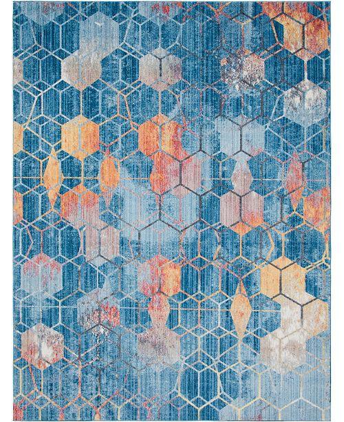 Bridgeport Home Prizem Shag Prz1 Blue 10' x 13' Area Rug