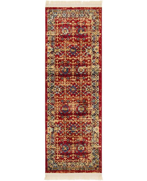 "Bridgeport Home Borough Bor2 Red 2' 2"" x 6' Runner Area Rug"