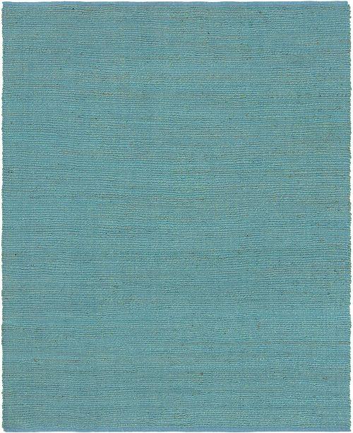 Bridgeport Home Prisma Jute Prs1 Turquoise 8' x 10' Area Rug