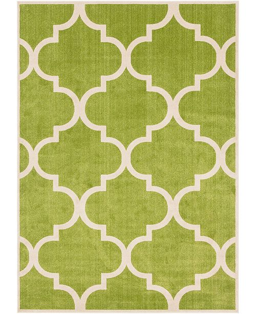 Bridgeport Home Arbor Arb3 Green 8' x 11' Area Rug