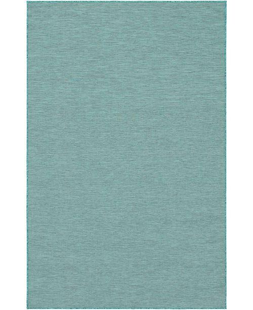 "Bridgeport Home Pashio Pas8 Turquoise 5' 3"" x 8' Area Rug"