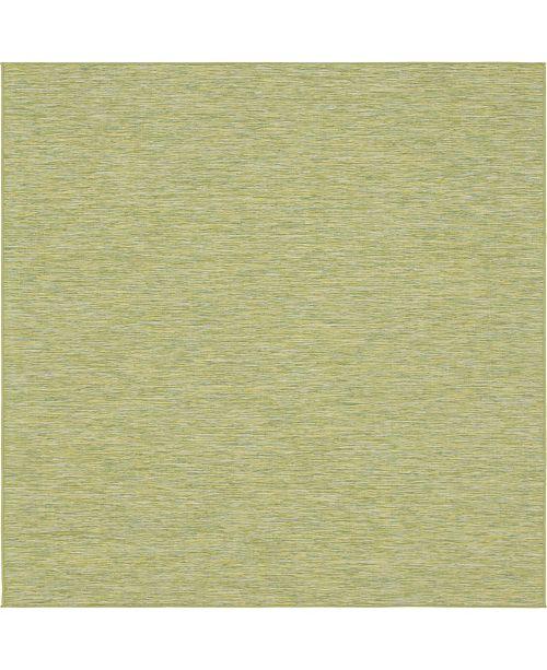 "Bridgeport Home Pashio Pas8 Green 10' 2"" x 10' 3"" Square Area Rug"