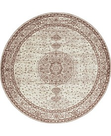 Mobley Mob1 Light Brown 8' x 8' Round Area Rug