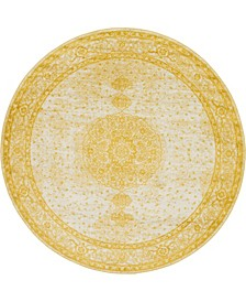 Mobley Mob1 Yellow 8' x 8' Round Area Rug
