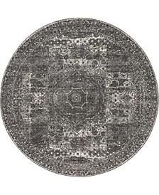 Mobley Mob2 Dark Gray 8' x 8' Round Area Rug