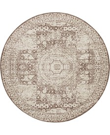 Mobley Mob2 Light Brown 8' x 8' Round Area Rug