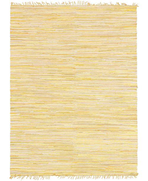 Bridgeport Home Jari Striped Jar1 Yellow 9' x 12' Area Rug
