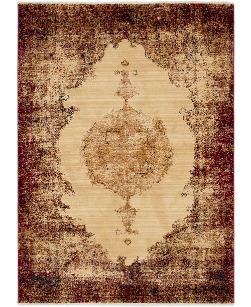Bridgeport Home Thule Thu2 Red 4' x 6' Area Rug
