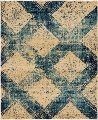 Thule Thu4 Blue 8' x 10' Area Rug