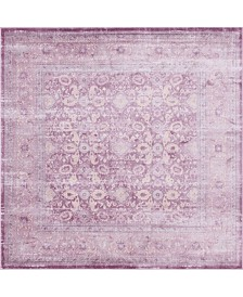 Bridgeport Home Anika Ani2 Violet 8' x 8' Square Area Rug