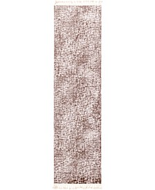 "Levia Lev3 Brown 3' 6"" x 13' Runner Area Rug"
