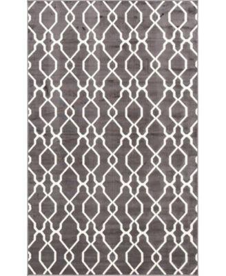 Pashio Pas8 Dark Gray 5' x 8' Area Rug