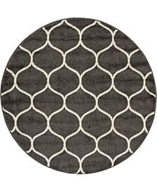 Plexity Plx2 Dark Gray 4' x 4' Round Area Rug