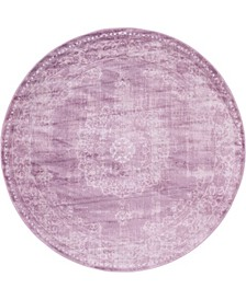 Anika Ani1 Violet 6' x 6' Round Area Rug