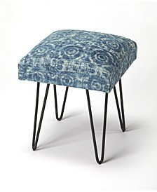 CLOSEOUT! Butler Faded Denim Stool, Quick Ship