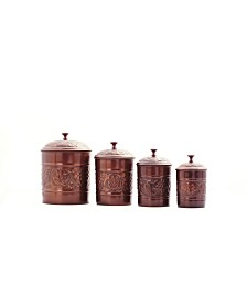 Old Dutch International Antique Embossed Heritage Canister Set, 4 Piece