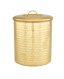 Old Dutch International Decor Champagne Hammered Storage Canister, 4-Quart