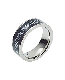 Emporio Armani Men's Blue Stainless Steel Ring