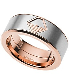 Emporio Armani Men's Two-Tone Stainless Steel Ring