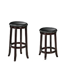 Chelsea Bar Stool with Swivel, Set of 2