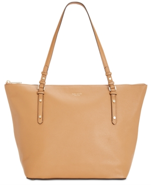Kate Spade New York Polly Pebble Leather Tote In Rich Pecan