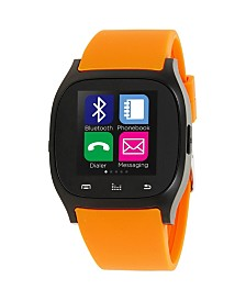 iTouch Smartwatch Black Case with Orange Strap
