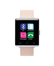 iTouch Air Smartwatch 41mm Silver Case with Pink Strap