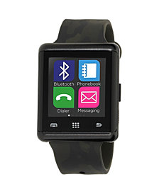 iTouch Air Smartwatch 45mm Black Case with Camouflage Strap