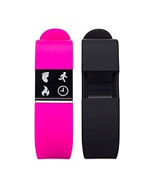 iFitness Activity Tracker with Fuchsia Strap and Bonus Black Strap