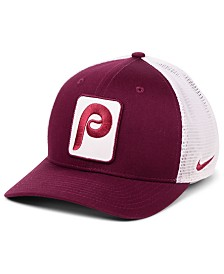 Nike Philadelphia Phillies Trucker Swooshflex Stretch Fitted Cap