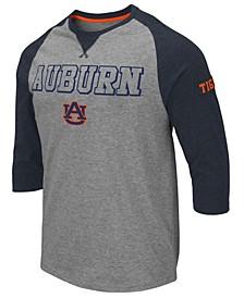 Men's Auburn Tigers Team Patch Three-Quarter Sleeve Raglan T-Shirt