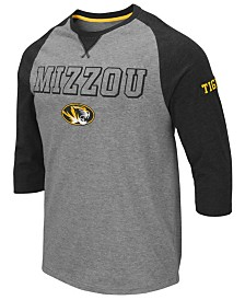Colosseum Men's Missouri Tigers Team Patch Three-Quarter Sleeve Raglan T-Shirt