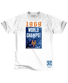Mitchell & Ness Men's New York Mets 1969 World Series Champs T-Shirt