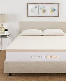 "CopperFresh 2"" Extra Support Gel Memory Foam Full Mattress Topper"
