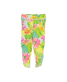 Masala Baby Girls Leggings Cactus Floral