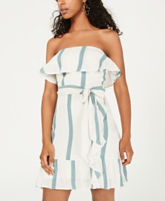 4dd20d450bed3 City Studios Juniors' Strapless Woven Dress